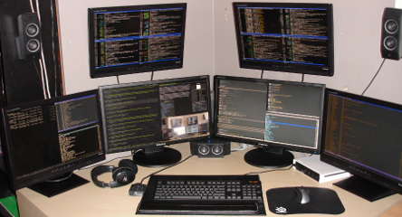 awesome running on 6 monitors